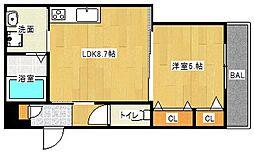Osaka Metro谷町線 大日駅 徒歩10分の賃貸アパート 3階1LDKの間取り