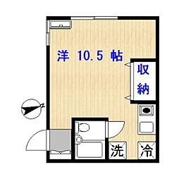 東京都目黒区目黒本町2丁目の賃貸アパートの間取り
