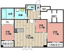 エンクレスト博多STYLE[12階]の間取り