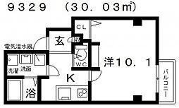 エヌエムサンカンテドゥ[3FB号室号室]の間取り