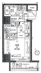東急池上線 戸越銀座駅 徒歩6分の賃貸マンション 3階ワンルームの間取り