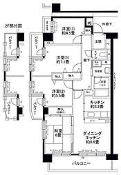 フロール山田町第3[904号室]の間取り