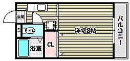 帝塚山パークハイツ[2階]の間取り