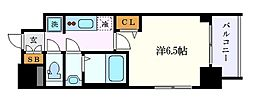 名鉄名古屋本線 山王駅 徒歩9分の賃貸マンション 2階1Kの間取り