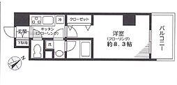 都営三田線 千石駅 徒歩2分の賃貸マンション 2階1Kの間取り