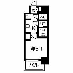名古屋市営桜通線 今池駅 徒歩6分の賃貸マンション 7階1Kの間取り