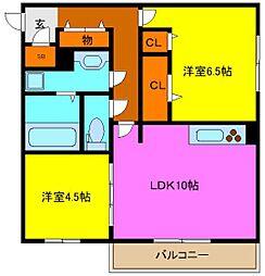 d−room吉田[2階]の間取り