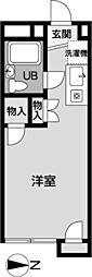 メゾン椚田[208号室]の間取り