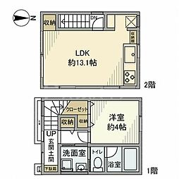 JR山手線 鶯谷駅 徒歩7分の賃貸一戸建て 2階1LDKの間取り