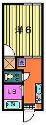 第1サフランハイツ[1階]の間取り