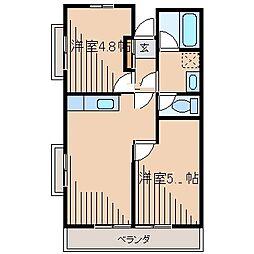 メゾンカネト[6階]の間取り