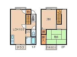 [一戸建] 和歌山県和歌山市関戸5丁目 の賃貸【/】の間取り