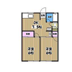 シティハイムナカノ[1階]の間取り
