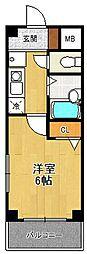 夙川チェリーハウス[2階]の間取り