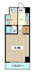 仙台市地下鉄東西線 川内駅 徒歩17分の賃貸マンション 6階1Kの間取り