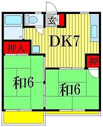 千葉県船橋市滝台2丁目の賃貸アパートの間取り