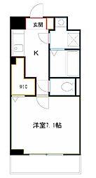 JR中央本線 吉祥寺駅 バス11分 新川宿下車 徒歩6分の賃貸マンション 2階1Kの間取り