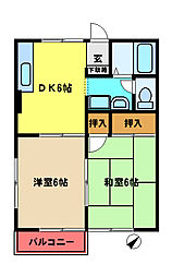 千葉県市原市藤井1丁目の賃貸アパートの間取り