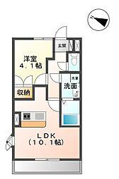 香川県善通寺市原田町の賃貸アパートの間取り
