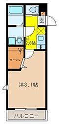 ラ・クール西川口[2階]の間取り