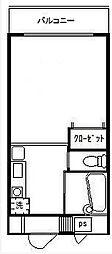 東京都八王子市元本郷町4丁目の賃貸マンションの間取り