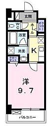 高松琴平電気鉄道琴平線 栗林公園駅 徒歩8分の賃貸マンション 2階1Kの間取り