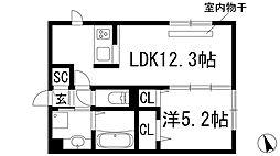 Brama甲東[2階]の間取り