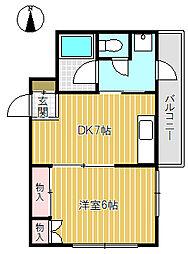 恩田マンション[301号室]の間取り