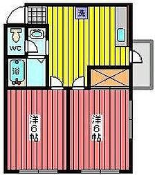 サクシードマンション[3階]の間取り