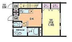Comfort Sakura bt[101kk号室]の間取り