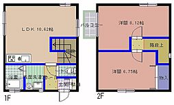 [一戸建] 茨城県ひたちなか市稲田 の賃貸【/】の間取り