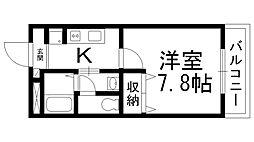 コンフォール深田[0200号室]の間取り
