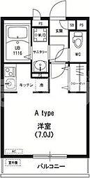東京都江戸川区中央2丁目の賃貸マンションの間取り