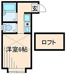 神奈川県横浜市港北区樽町3丁目の賃貸アパートの間取り