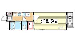 兵庫県神戸市灘区琵琶町2丁目の賃貸マンションの間取り