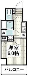 横浜市営地下鉄ブルーライン 弘明寺駅 徒歩5分の賃貸マンション 4階1Kの間取り