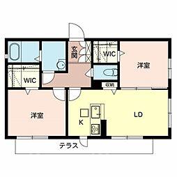仮)堺市堺区シャーメゾン中向陽町[1階]の間取り