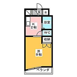 エクシードみずほ[3階]の間取り