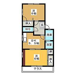アーバンサイド[2階]の間取り