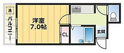 大宝長田ルグラン[5階]の間取り
