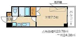 梅田エクセルハイツ[6階]の間取り