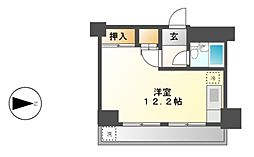 プレアール名古屋日比野[4階]の間取り