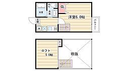 ロフティ西京極[2階]の間取り