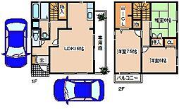 [一戸建] 兵庫県神戸市西区二ツ屋1丁目 の賃貸【兵庫県 / 神戸市西区】の間取り