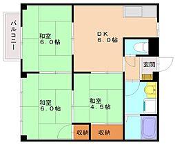 エッグコーポ[2階]の間取り