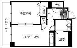 福岡県久留米市本町の賃貸マンションの間取り