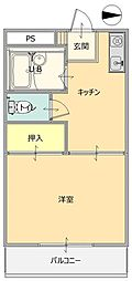 レジデンス内ヶ島[305号室]の間取り