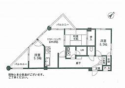 サンサーラ亀岡[2階]の間取り