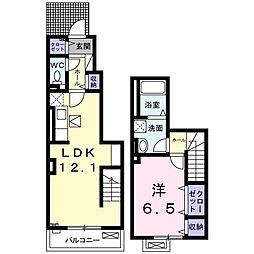 埼玉県草加市瀬崎7丁目の賃貸アパートの間取り