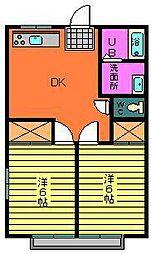 オータムハウス2[101号室]の間取り